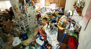 Chi/energy becomes stuck in a hoarded home